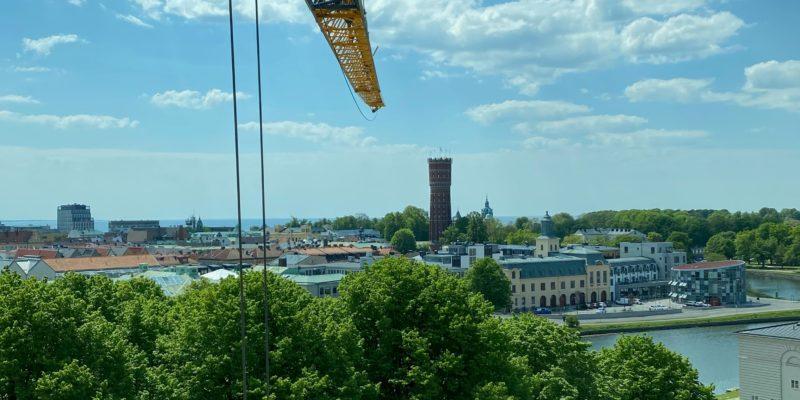 Fredriksskans utsikt byggkran